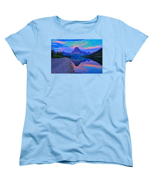 Women's T-Shirt (Standard Cut) featuring the photograph Dawn At Two Medicine Lake by Greg Norrell