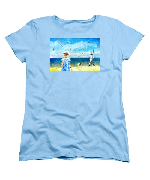 Day At The Shore Women's T-Shirt (Standard Cut) by Alexis Rotella