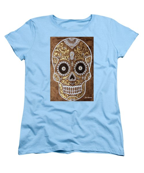 Women's T-Shirt (Standard Cut) featuring the painting Day Of Death by J- J- Espinoza