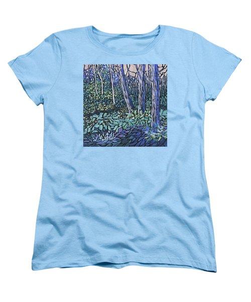 Women's T-Shirt (Standard Cut) featuring the painting Daybreak by Joanne Smoley