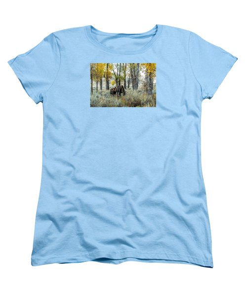 Women's T-Shirt (Standard Cut) featuring the photograph Day's End At Gros Ventre by Yeates Photography