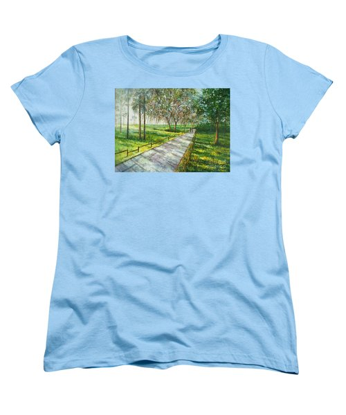 Dayspring Retreat Women's T-Shirt (Standard Cut) by Lou Ann Bagnall