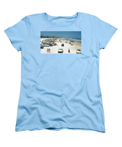Daytona Beach Florida - 1957 Women's T-Shirt (Standard Cut) by Merton Allen