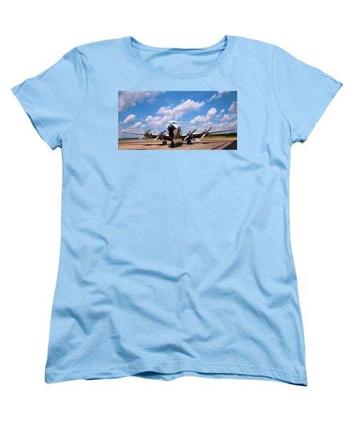 Women's T-Shirt (Standard Cut) featuring the digital art Dc 7 by Chris Flees