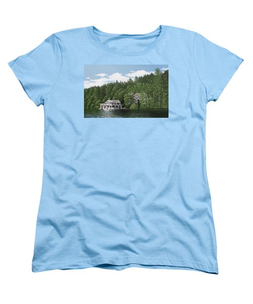 Women's T-Shirt (Standard Cut) featuring the painting De Groote Summer Home Muskoka by Kenneth M Kirsch