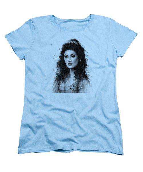 Deanna Troi - Star Trek Fan Art Women's T-Shirt (Standard Cut) by Olga Shvartsur