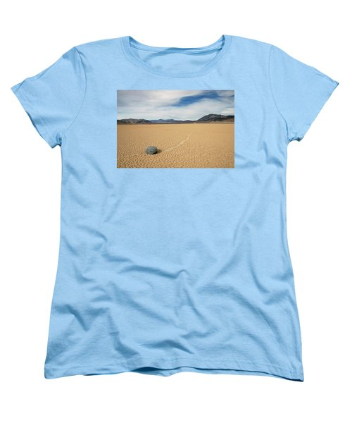 Women's T-Shirt (Standard Cut) featuring the photograph Death Valley Ractrack by Breck Bartholomew