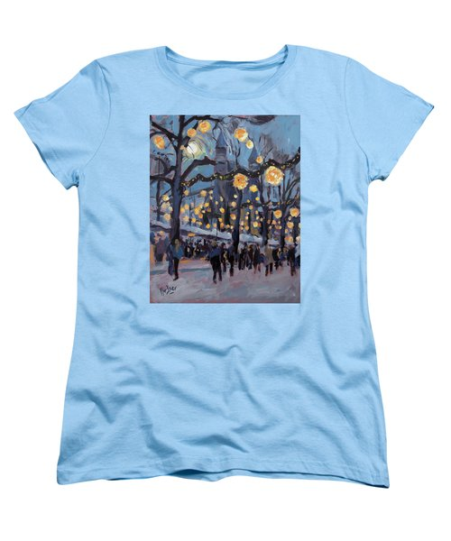 December Lights At The Our Lady Square Maastricht 1 Women's T-Shirt (Standard Cut) by Nop Briex