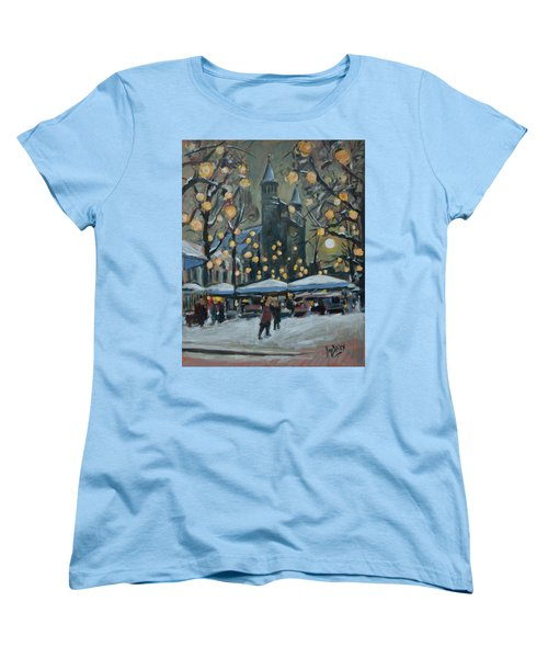 December Lights At The Our Lady Square Maastricht 2 Women's T-Shirt (Standard Cut) by Nop Briex