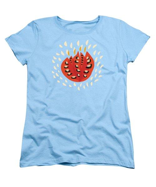 Decorative Beautiful Abstract Tulip Women's T-Shirt (Standard Cut) by Boriana Giormova