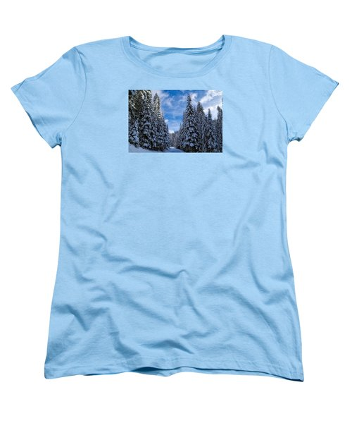 Deep In The Snowy Forest Women's T-Shirt (Standard Cut)