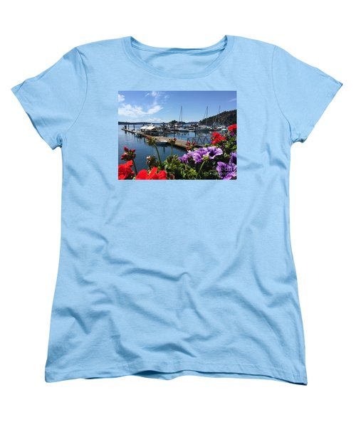 Women's T-Shirt (Standard Cut) featuring the photograph Deer Harbor By Day by William Wyckoff