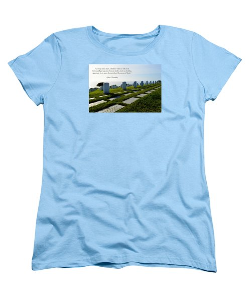 Women's T-Shirt (Standard Cut) featuring the photograph Defending Liberty by Glenn McCarthy Art and Photography