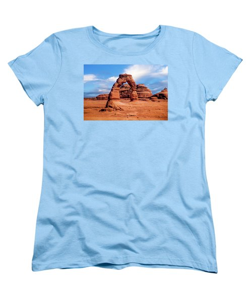 Delicate Arch From Lower Viewpoint Women's T-Shirt (Standard Cut)