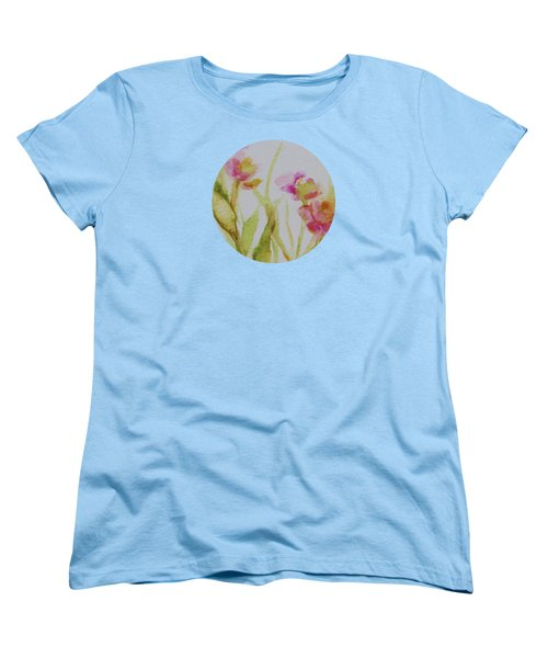 Delicate Blossoms Women's T-Shirt (Standard Cut) by Mary Wolf