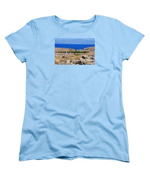 Delos Island View Of Agean Women's T-Shirt (Standard Cut) by Robert Moss
