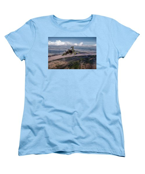 Women's T-Shirt (Standard Cut) featuring the digital art Delta Deliverance by Peter Chilelli