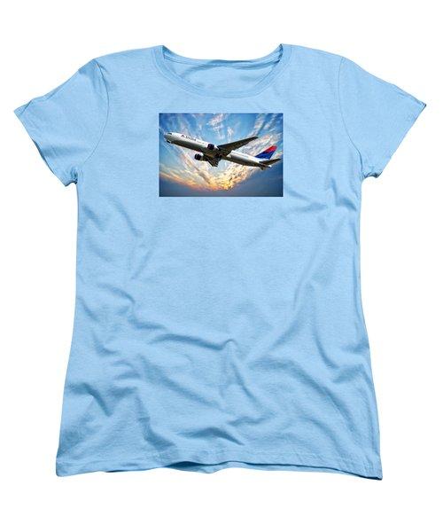 Delta Passenger Plane Women's T-Shirt (Standard Cut) by Anthony Dezenzio