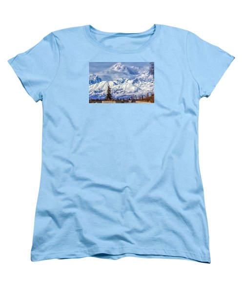 Denali Women's T-Shirt (Standard Cut) by Michael Rogers