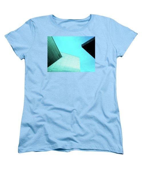 Women's T-Shirt (Standard Cut) featuring the photograph Denver Art Museum Hamilton by Marilyn Hunt