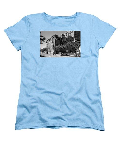 Denver Downtown Warehouse Bw Women's T-Shirt (Standard Cut) by Frank Romeo
