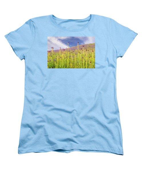 Desert Candles At Carrizo Plain Women's T-Shirt (Standard Cut) by Marc Crumpler