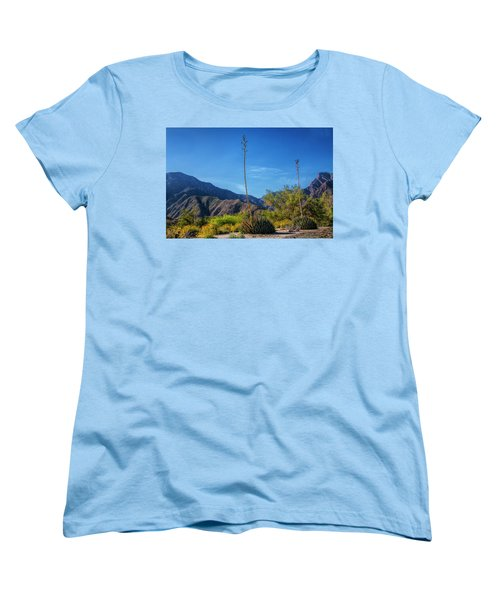 Women's T-Shirt (Standard Cut) featuring the photograph Desert Flowers In The Anza-borrego Desert State Park by Randall Nyhof