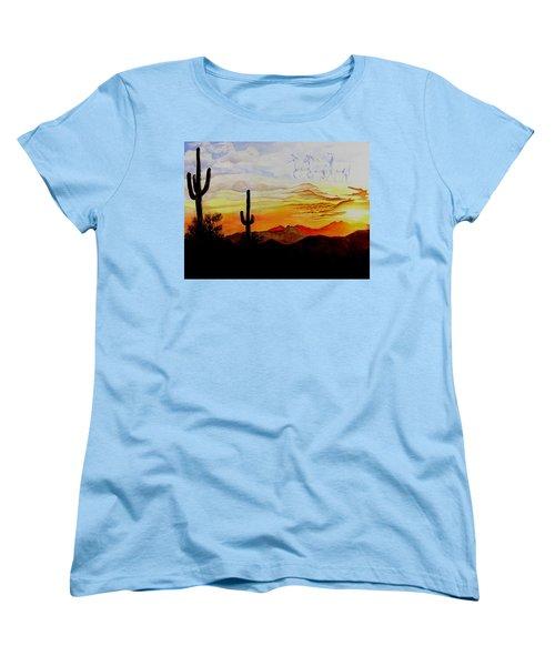 Desert Mustangs Women's T-Shirt (Standard Cut) by Jimmy Smith