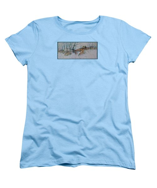 Women's T-Shirt (Standard Cut) featuring the painting Deserted Clearing by Carolyn Rosenberger
