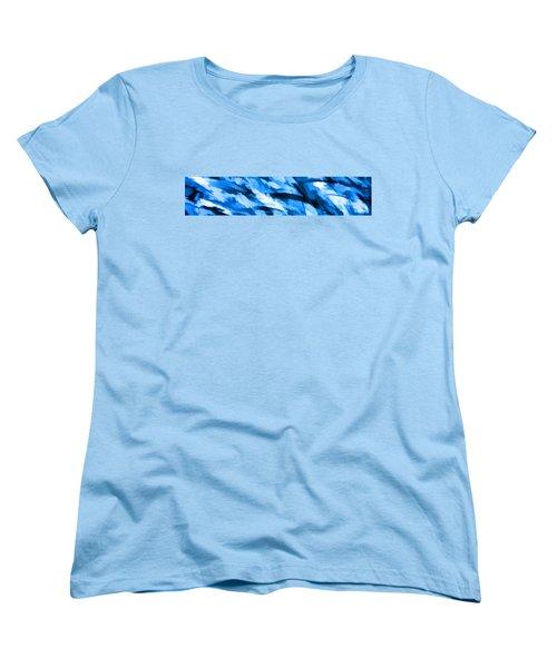 Designer Camo In Blue Women's T-Shirt (Standard Cut) by Bruce Stanfield