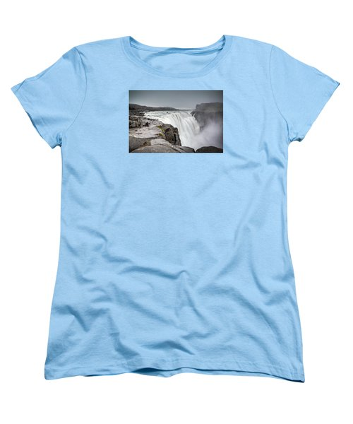 Dettifoss Women's T-Shirt (Standard Cut) by Brad Grove