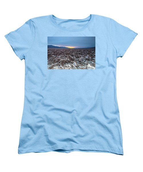 Women's T-Shirt (Standard Cut) featuring the photograph Devil's Golf Course  by Catherine Lau