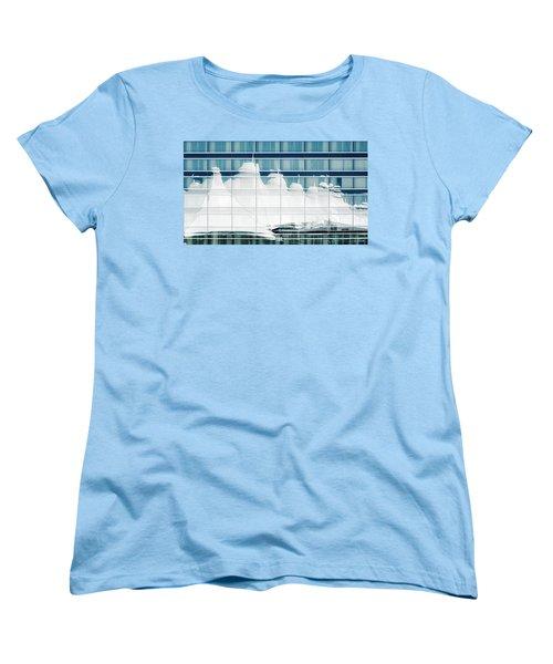 Women's T-Shirt (Standard Cut) featuring the photograph Dia Hotel Reflection by Joe Bonita