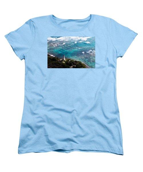 Diamond Head Lighthouse Women's T-Shirt (Standard Cut) by Steven Sparks