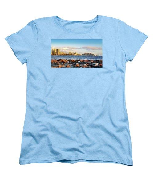 Women's T-Shirt (Standard Cut) featuring the photograph Diamond Head, Waikiki by Kristine Merc