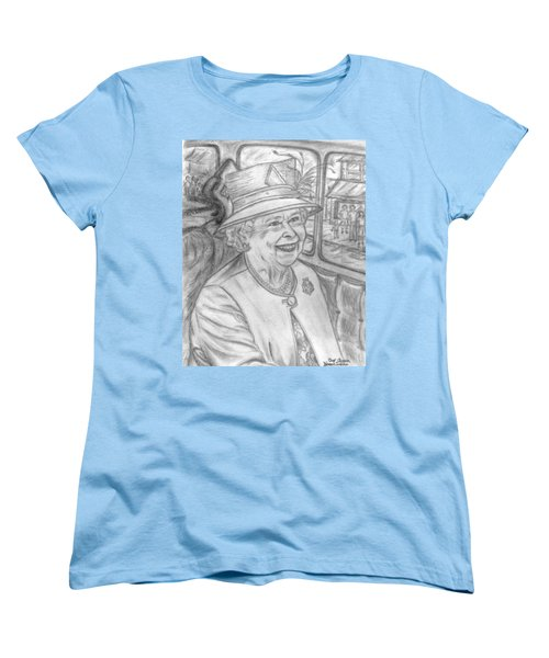 Women's T-Shirt (Standard Cut) featuring the drawing Diamond Jubilee by Teresa White