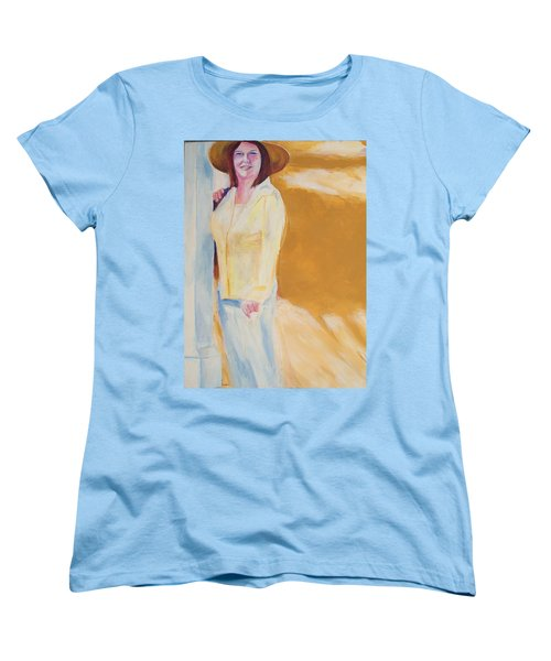 Women's T-Shirt (Standard Cut) featuring the painting Diane by Eric  Schiabor