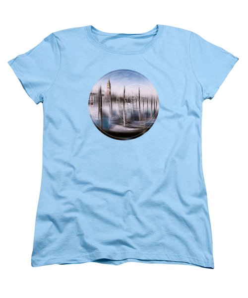 Digital-art Venice Grand Canal And St Mark's Campanile Women's T-Shirt (Standard Cut) by Melanie Viola