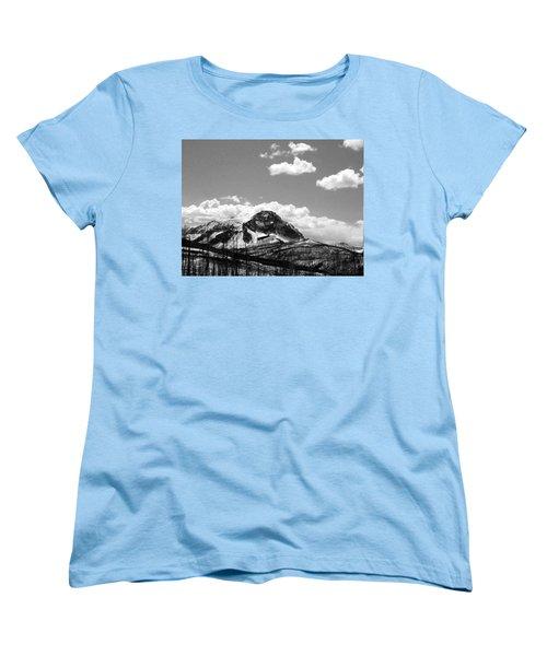 Divide In Blackand White Women's T-Shirt (Standard Cut)