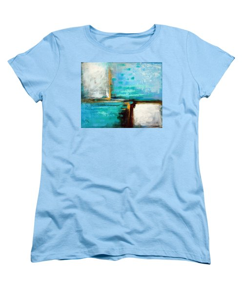 Women's T-Shirt (Standard Cut) featuring the painting Divided Loyalties by Suzanne McKee
