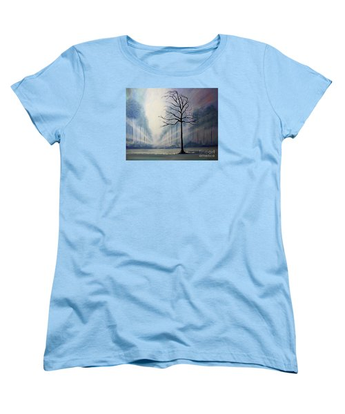 Women's T-Shirt (Standard Cut) featuring the painting Divine Serenity by Stacey Zimmerman