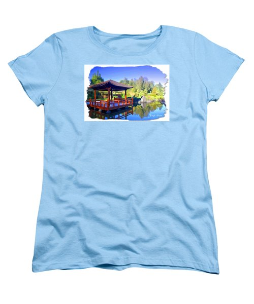 Women's T-Shirt (Standard Cut) featuring the photograph Do-00003 Shinden Style Pavilion by Digital Oil