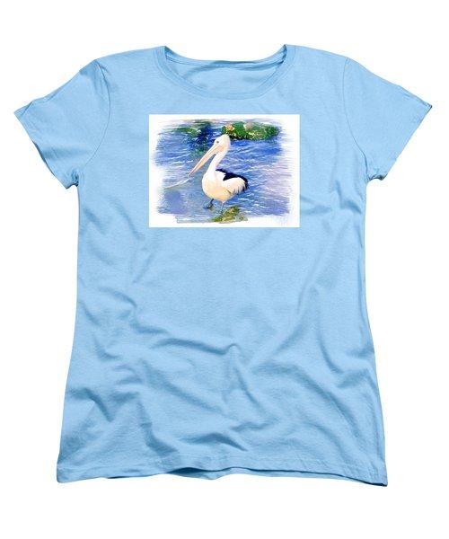 Women's T-Shirt (Standard Cut) featuring the photograph Do-00088 Pelican by Digital Oil