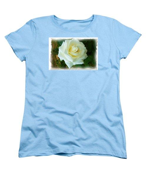 Women's T-Shirt (Standard Cut) featuring the photograph Do-00300 La Rose De Aaraya by Digital Oil