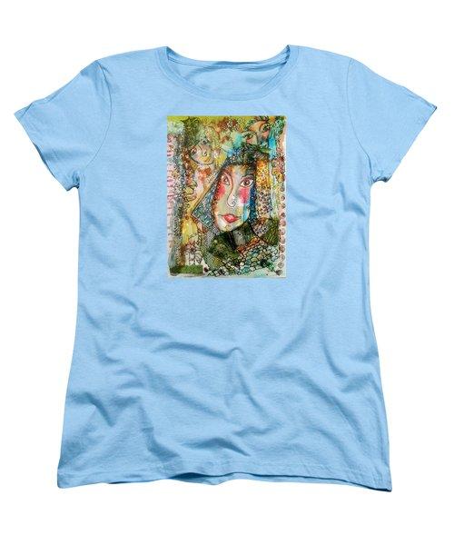 Doe Eyed Girl And Her Spirit Guides Women's T-Shirt (Standard Cut)