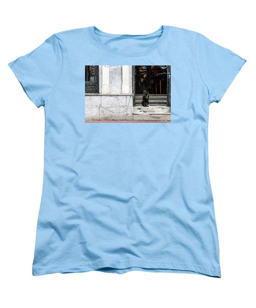 Dog From The Block Women's T-Shirt (Standard Cut) by Silvia Bruno