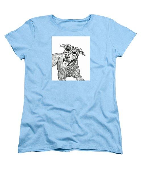 Dog Sketch In Charcoal 5 Women's T-Shirt (Standard Cut) by Ania M Milo