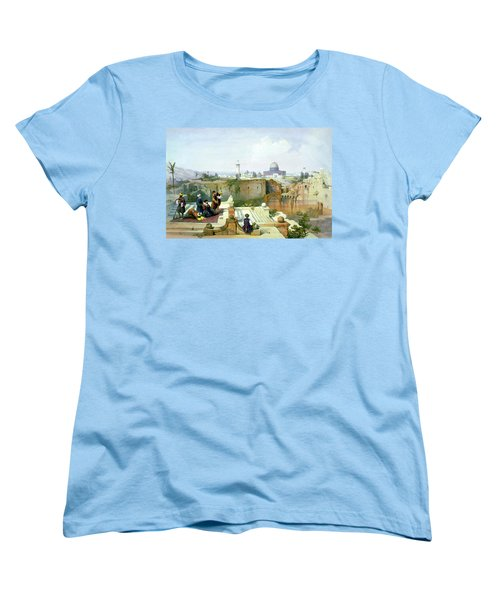 Dome Of The Rock In The Background Women's T-Shirt (Standard Cut) by Munir Alawi