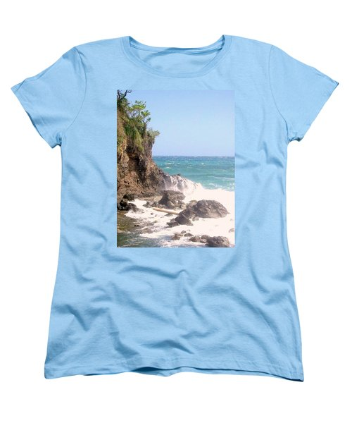 Women's T-Shirt (Standard Cut) featuring the photograph Dominica North Atlantic Coast by Ian  MacDonald