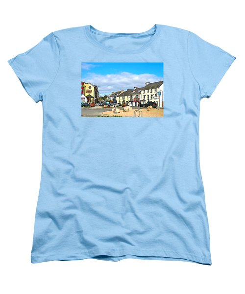 Donegal Town Women's T-Shirt (Standard Cut) by Charlie and Norma Brock